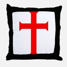 Red Cross/White Background Throw Pillow