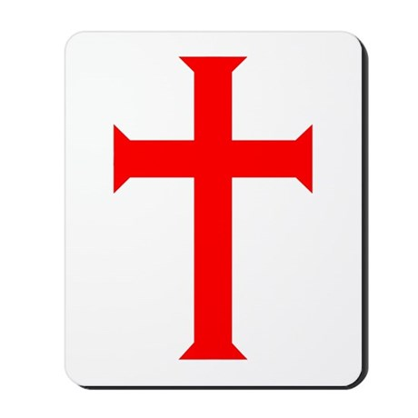 Red Cross/White Background Mousepad