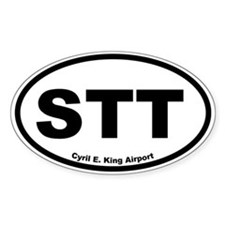 Cyril E. King Airport Oval Decal