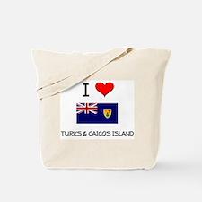I Love Turks & Caicos Island Tote Bag