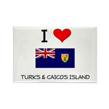 I Love Turks & Caicos Island Rectangle Magnet