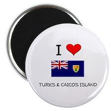 I Love Turks & Caicos Island Magnet