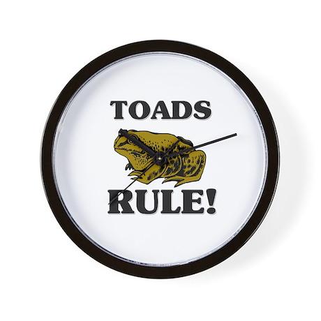 Toads Rule! Wall Clock