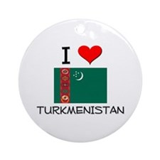 I Love Turkmenistan Ornament (Round)