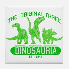 Green Dinosauria Tile Coaster