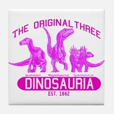 Pink Dinosauria Tile Coaster