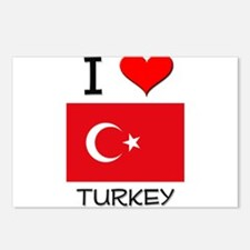I Love Turkey Postcards (Package of 8)
