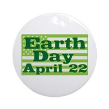Earth Day April 22 Ornament (Round)