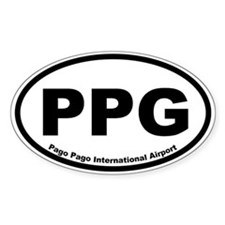 Pago Pago International Airport Oval Decal