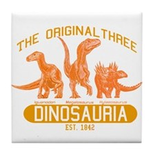 Orange Dinosauria Tile Coaster
