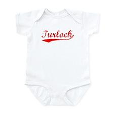 Vintage Turlock (Red) Infant Bodysuit
