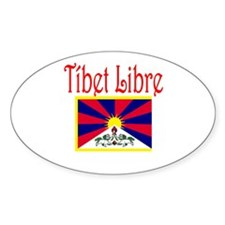 Spanish Free Tibet Oval Decal