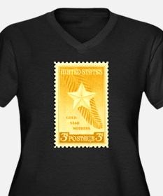 Gold Star Mothers Military Stamp Women's Plus Size