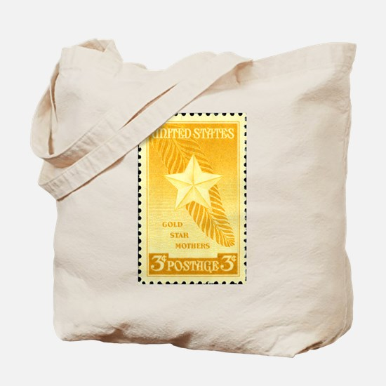 Gold Star Mothers Military Stamp Tote Bag