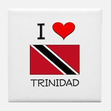 I Love Trinidad Tile Coaster