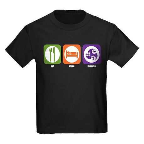 Eat Sleep Manga Kids Dark T-Shirt