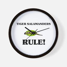 Tiger Salamanders Rule! Wall Clock