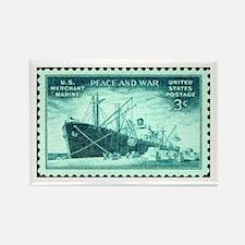 Merchant Marine Military Stamp Rectangle Magnet