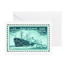 Merchant Marine Military Stamp Greeting Card
