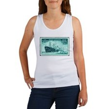 Merchant Marine Military Stamp Women's Tank Top