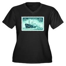 Merchant Marine Military Stamp Women's Plus Size V