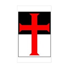 Red Cross on Beausant Rectangle Decal