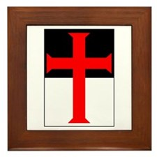 Red Cross on Beausant Framed Tile