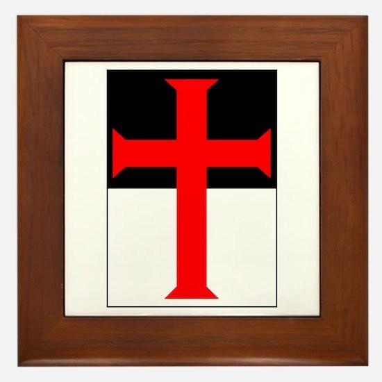 Red Cross on Beausant Framed Tile