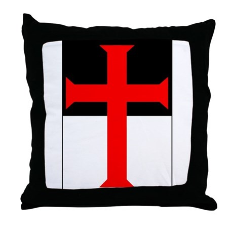 Red Cross on Beausant Throw Pillow