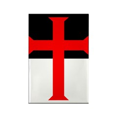 Red Cross on Beausant Rectangle Magnet (100 pack)