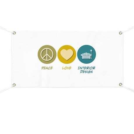 Peace Love Interior Design Banner