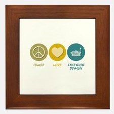 Peace Love Interior Design Framed Tile