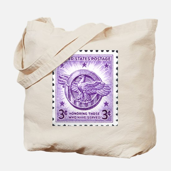 Honoring The Military Stamp Tote Bag
