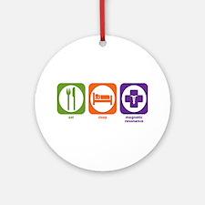 Eat Sleep Magnetic Resonance Ornament (Round)