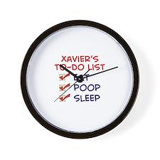 Xavier's To-Do List Wall Clock