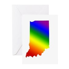 Indiana Gay Pride Greeting Cards (Pk of 10)