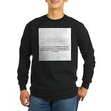 Organic chemistry Long Sleeve T-shirts (Dark)