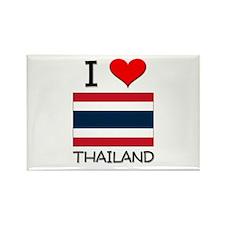 I Love Thailand Rectangle Magnet