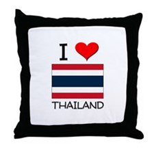 I Love Thailand Throw Pillow