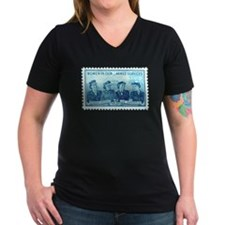 Women in Military Stamp Shirt