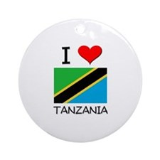 I Love Tanzania Ornament (Round)