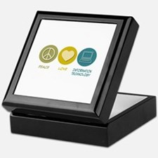 Peace Love Information Technology Keepsake Box
