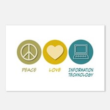 Peace Love Information Technology Postcards (Packa