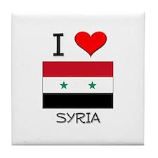 I Love Syria Tile Coaster