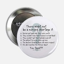 "Nursing Shortage Solution 2.25"" Button"