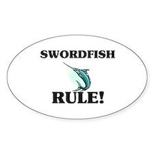 Swordfish Rule! Oval Decal