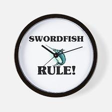 Swordfish Rule! Wall Clock