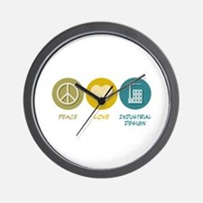 Peace Love Industrial Design Wall Clock