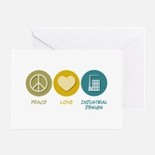 Peace Love Industrial Design Greeting Card