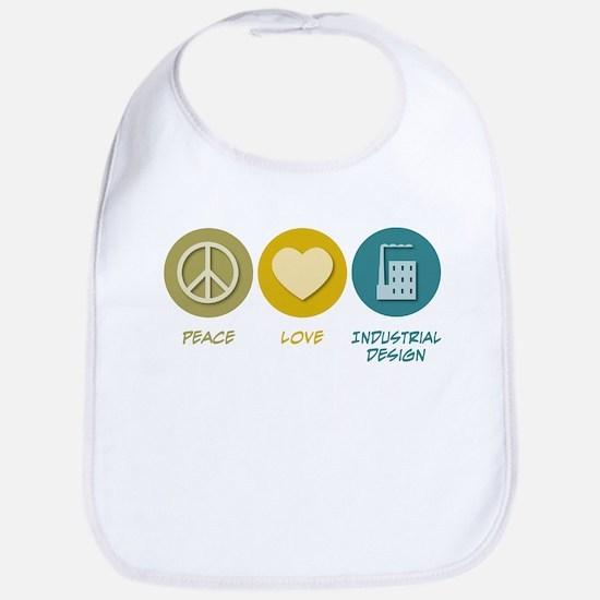 Peace Love Industrial Design Bib